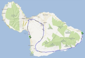 Map to Hana - via Highway 31