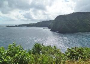 Ka'anae Peninsula as seen from Kaumahina Park