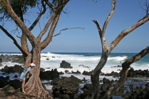 Surf off Ke'anae Peninsula