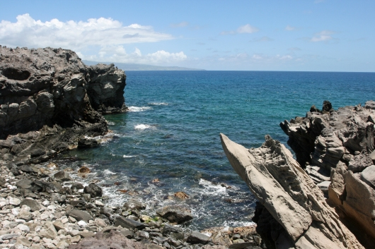 Look for turtles in the coves at the west end of Oneloa Bay
