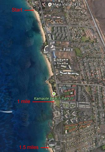 South Kihei Beach Walk Map