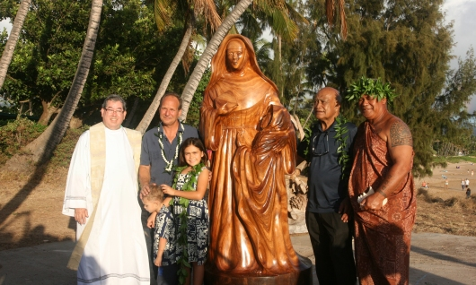 The blessing of the finished statue