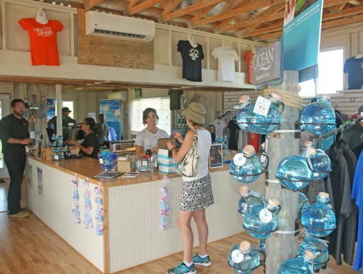The store at the Ocean Vodka Organic Farm