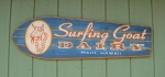 Surfing goat sign