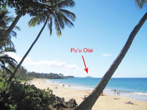 Pu'u Olai as seen from Charley Young Beach