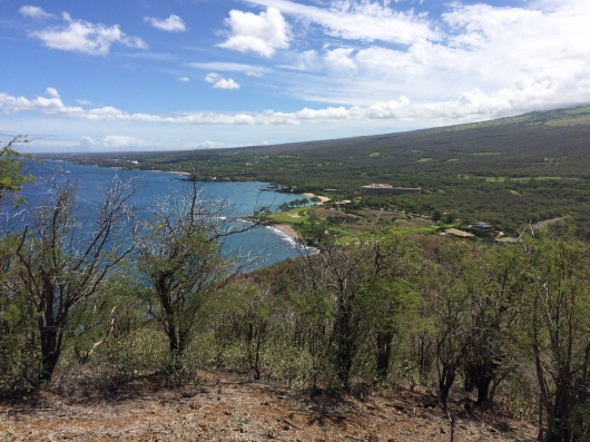 View toward Wailea from Pu'u Olai