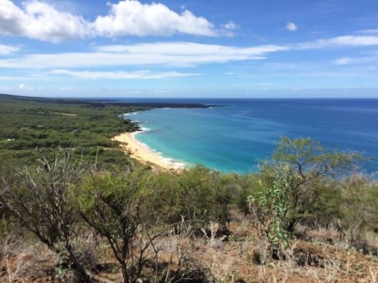 Big Beach as seen from Pu'u Olai